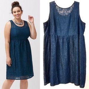 28 Lane Bryant Lace Illusion Fit & Flare Dress